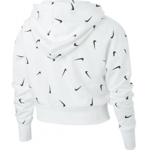 Sudadera Nike NSW Crop Hoodie Aop Niña Blanca [1]