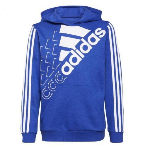 Sudadera con Capucha Adidas LOGO HD Niños Azul