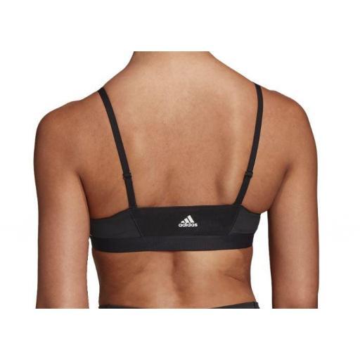 Sujetador Deportivo Adidas All Me 3S Stripe Bra Negro [2]