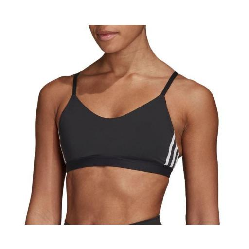 Sujetador Deportivo Adidas All Me 3S Stripe Bra Negro [1]