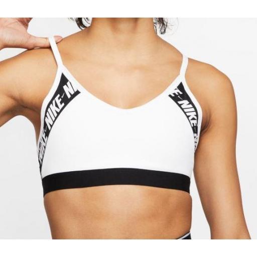 Nike Sujetador Deportivo Womens Indy Logo Bra Blanco [1]