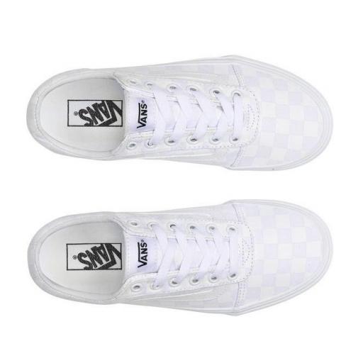 Zapatillas Vans Ward Checkerboard Mujer Blanca [2]