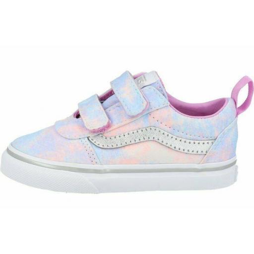 Zapatillas Vans Ward V Glitter Tie Dye Velcro Niña Pequeña Rosa Multicolor