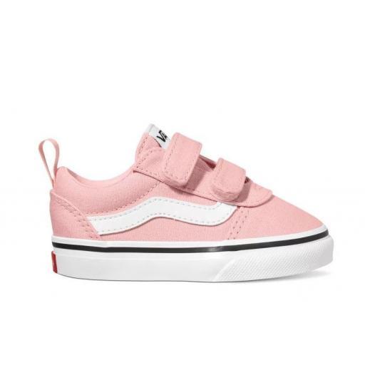 Zapatillas Vans Ward Velcro Niña Pequeña Rosa