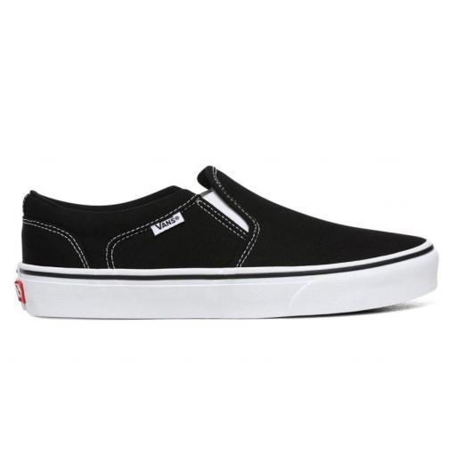 Zapatillas Vans Asher Canvas Negro/Blanco