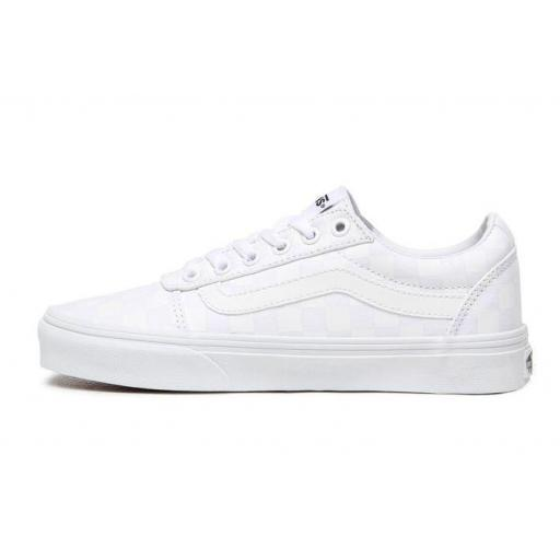 Zapatillas Vans Ward Checkerboard Mujer Blanca [3]