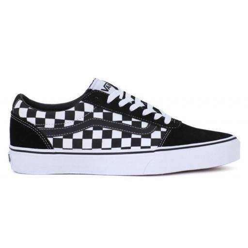 Zapatillas Vans Ward Checkered Cuadros Negro/Blanco