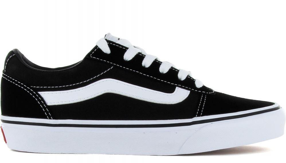 Zapatos Vans Ward Suede Canvas Mujer Negro/Blanco