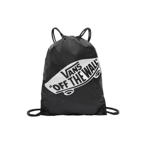 "Bolsa Saco Vans Benched Bag Logo ""Off The Wall"" Negro/Blanco"