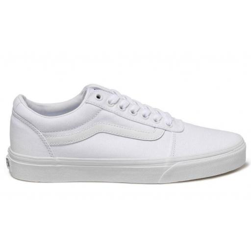 Zapatillas Vans Ward Canvas Blanca Entera