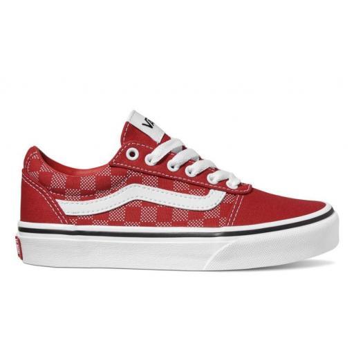 Zapatillas Vans Ward YT Checker Dot Cuadros Rojo/Blanco