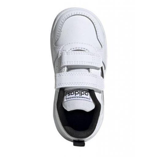 Zapatillas Adidas Tensaur I Niño Velcro Blanco/Negro [2]