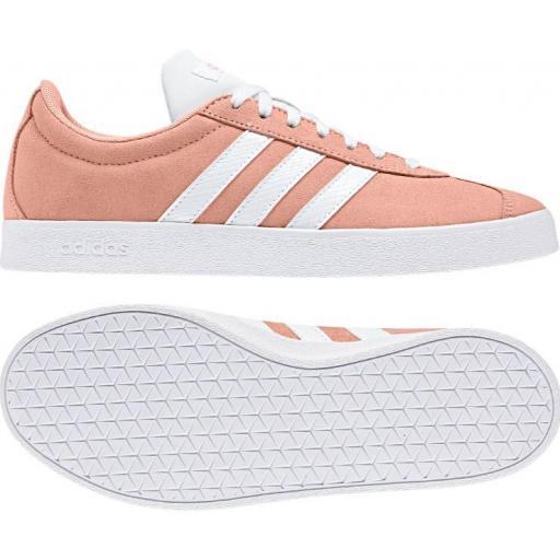 Zapatillas Adidas VL Court 2.0 Mujer Coral [2]