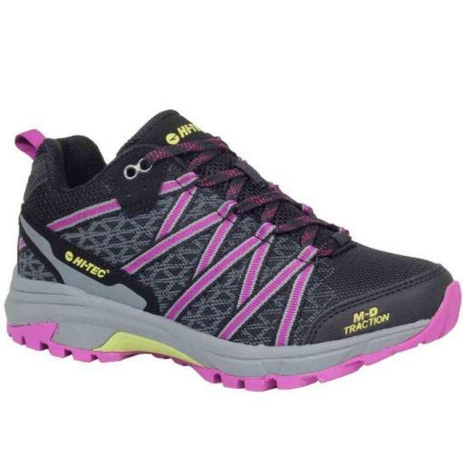 Zapatillas Hi-Tec Serra Trail Black/Boysenberry/Cress Green