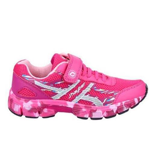 Zapatillas J'hayber Rilante Rosa Velcro Niñas
