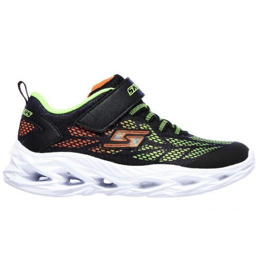 Zapatillas Skechers S Lights Vortex Flash Luces Velcro