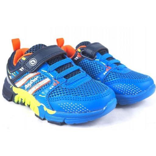Zapatillas J'hayber Ronila Blue Velcro Niño Pequeño [1]