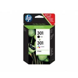 N9J72AE PACK 2 CARTUCHO HP 301 ORIGINAL NEGRO/COLOR