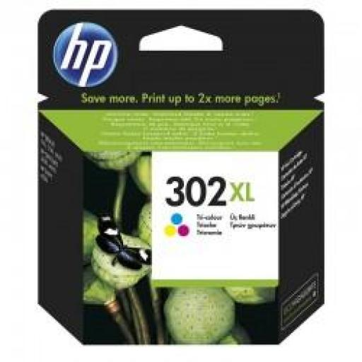 F6U67AE CARTUCHO ORIGINAL HP COLOR (N 302XL) 330 PAG.