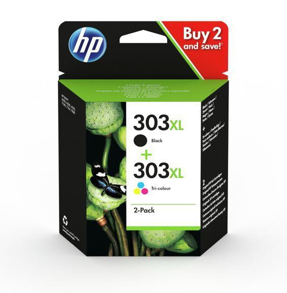 HP Nº 303XL (3YN10AE)  TINTA ORIGINAL PACK NEGRO+TRICOLOR XL
