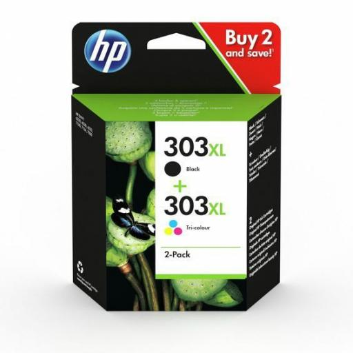 HP Nº 303XL (3YN10AE)  TINTA ORIGINAL PACK NEGRO+TRICOLOR XL