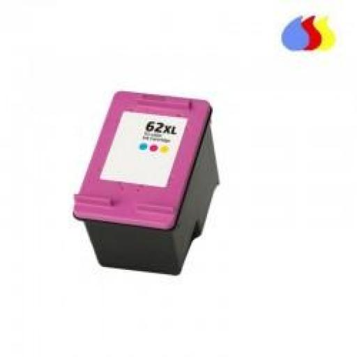 C2P07AE CARTUCHO RECICLADO COMPATIBLE CON HP COLOR N 62XLCL (18 ML)
