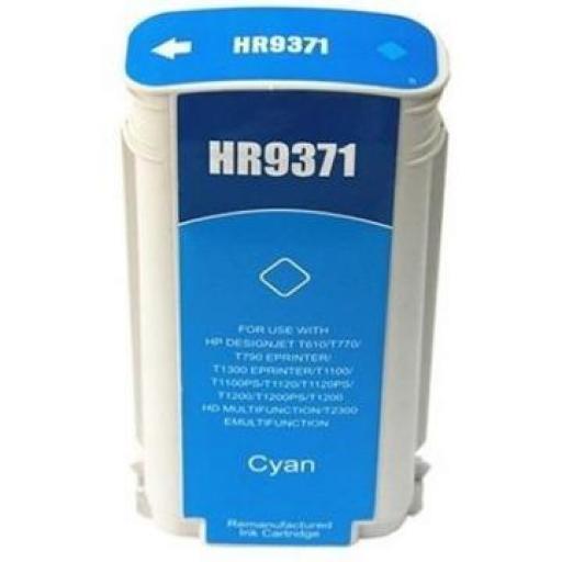 HP 72 Cyan Cartucho de Tinta Generico - Reemplaza C9371A 130 ml