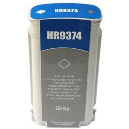 HP 72 Gris Cartucho de Tinta Generico - Reemplaza C9374A 130 ml.