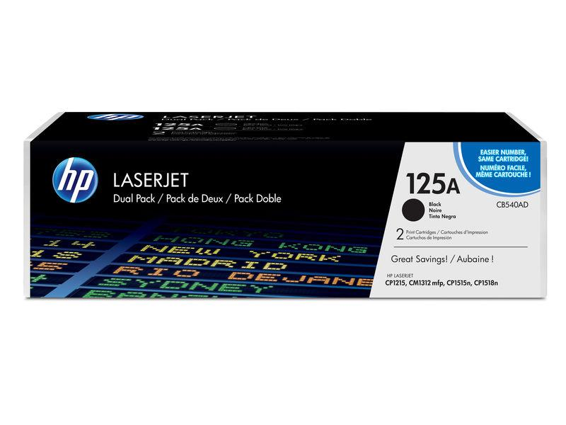 HP Toner Laser Negro Pack 2 CB540AD