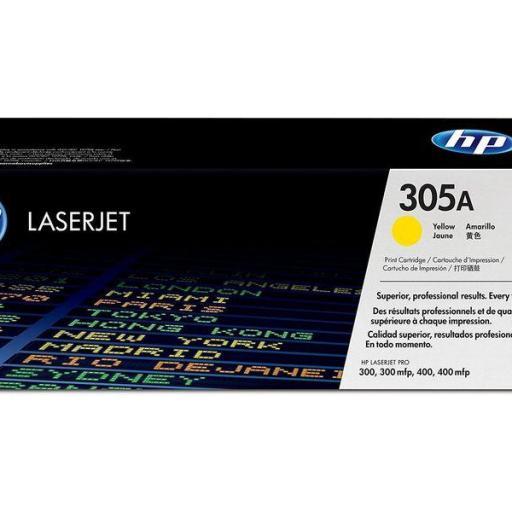 HP Toner Laser 305A Amarillo CE412A