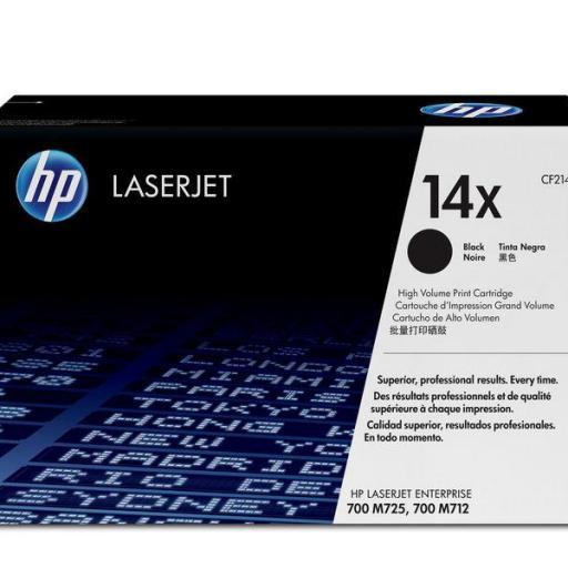 HP Toner Laser 14X Negro CF214X