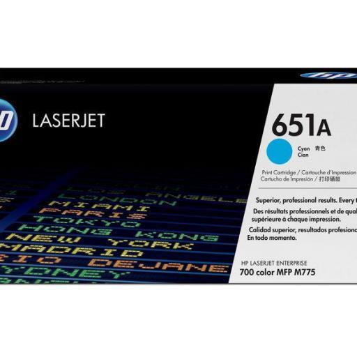 HP Toner Laser 651A Cyan CE341A