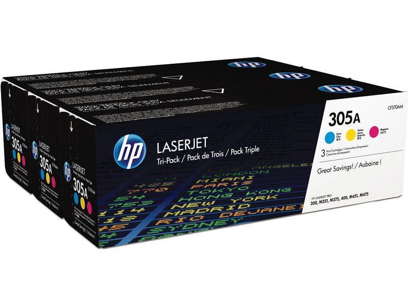 HP Toner Laser 305A Tricolor CF370AM