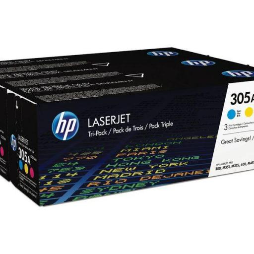 HP Toner Laser 305A Tricolor CF370AM