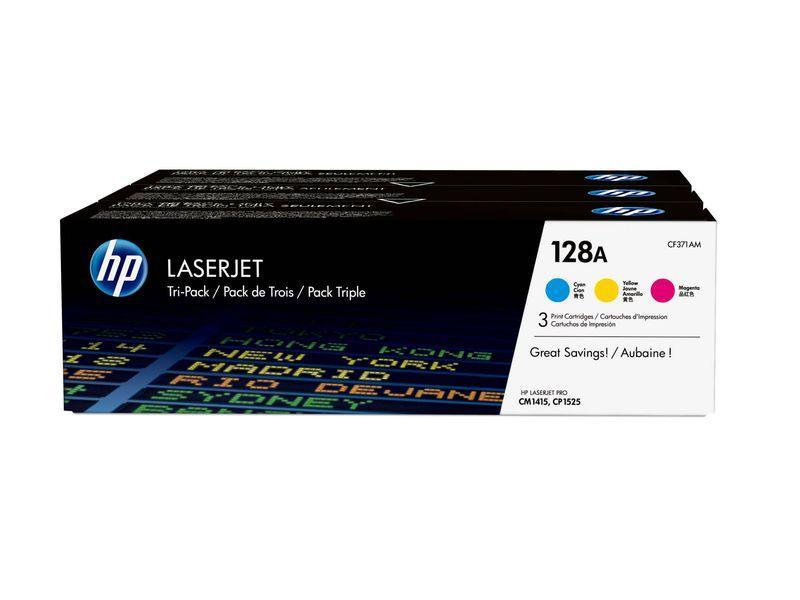 HP Toner Laser 128A Tricolor pack 3 CF371AM