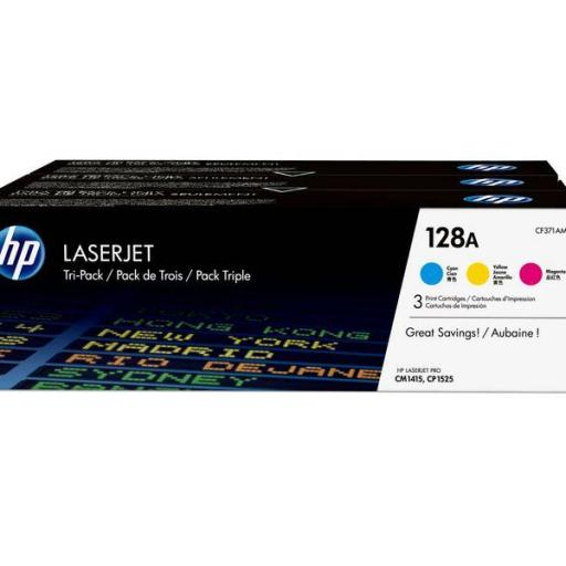 HP Toner Laser 128A Tricolor pack 3 CF371AM