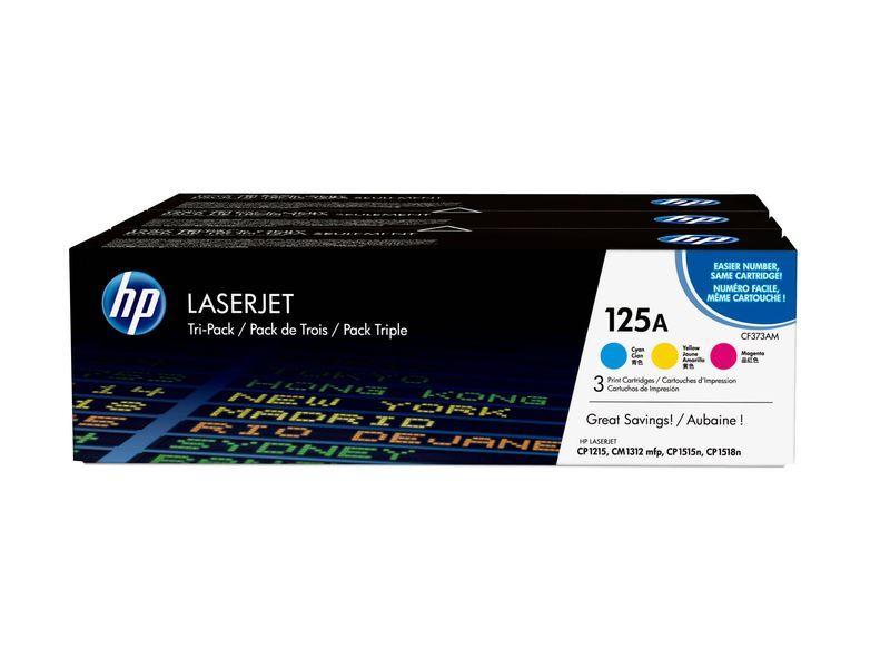 HP Toner Laser 125A Tricolor pack 3 CF373AM