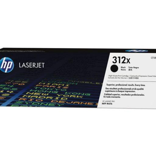 HP Toner Laser 312X Negro CF380X