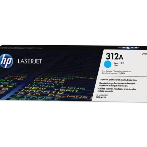 HP Toner Laser 312A Cyan CF381A