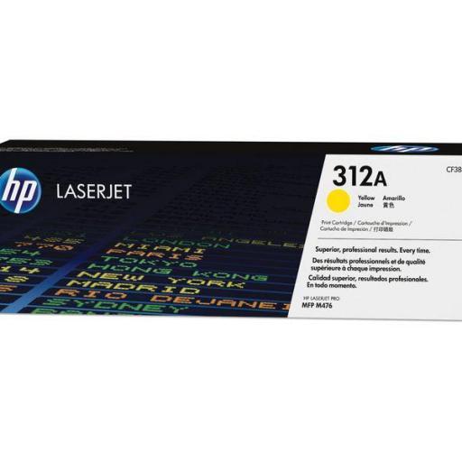 HP Toner Laser 312A Amarillo CF382A