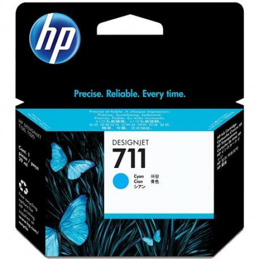 Cartucho Original HP 711 Cian - CZ130A 29 ml