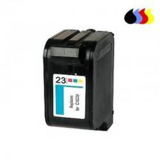 C1823A CARTUCHO RECICLADO COMPATIBLE CON HP COLOR (N 23) 3X14 ML