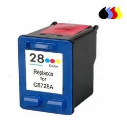 C8728A CARTUCHO RECICLADO HP COLOR (N 28) 3X6 ML