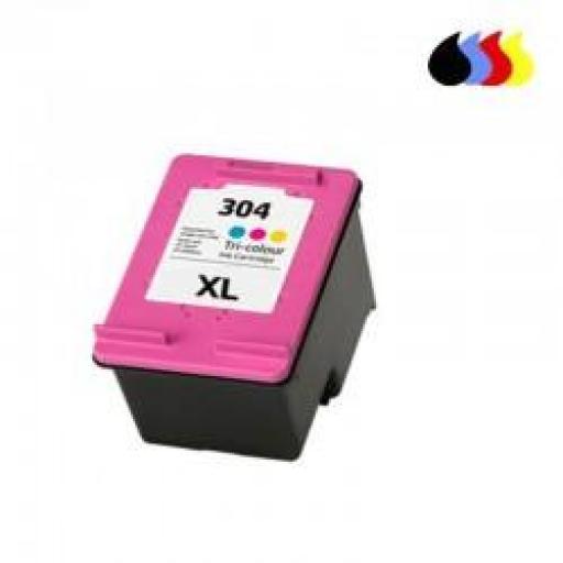 N9K07AE CARTUCHO RECICLADO HP COLOR N 304XLCL (18 ml)
