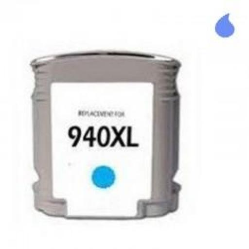 C4907AN CARTUCHO GENERICO COMPATIBLE CON HP CYAN (N 940XLC) 'CON CHIP' 28 ML