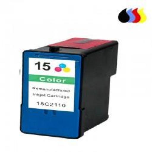 018C2100E CARTUCHO RECICLADO LEXMARK COLOR (N 15) 19,5 ML