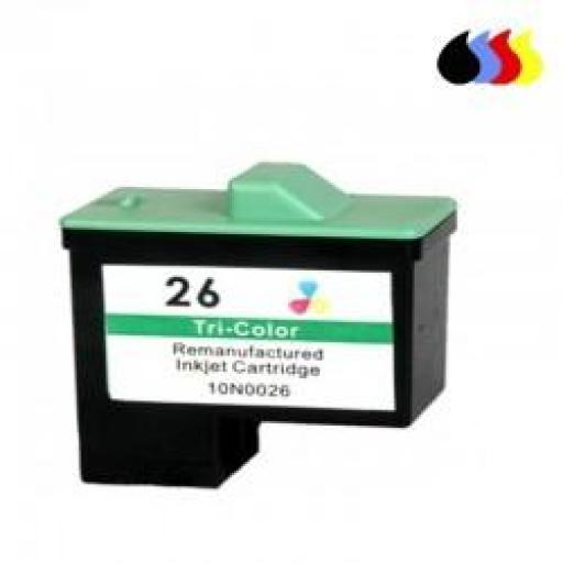 10N0026 CARTUCHO RECICLADO LEXMARK COLOR (N 26) 3X5 ML