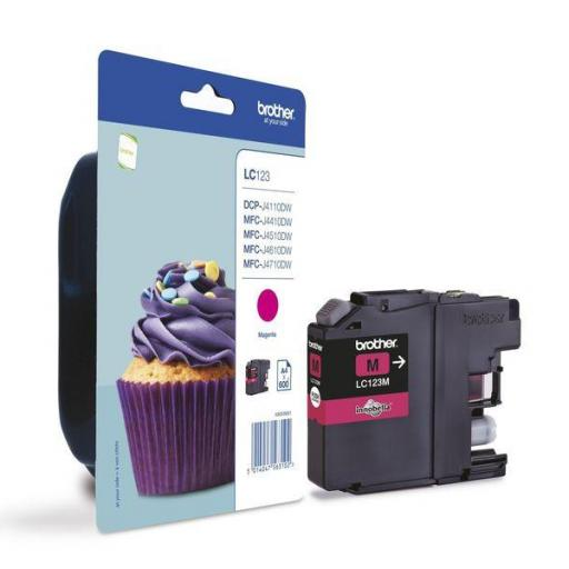 BROTHER Cartuchos Inyeccion LC123M Magenta Blister + Alarma LC123MBP