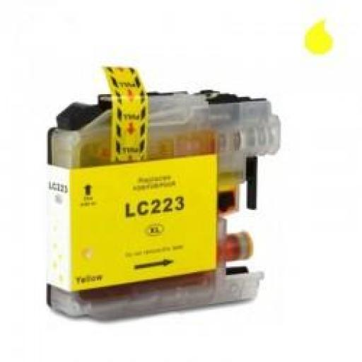 LC-223Y CARTUCHO GENERICO BROTHER AMARILLO (10ML) CHIP ACTUALIZADO