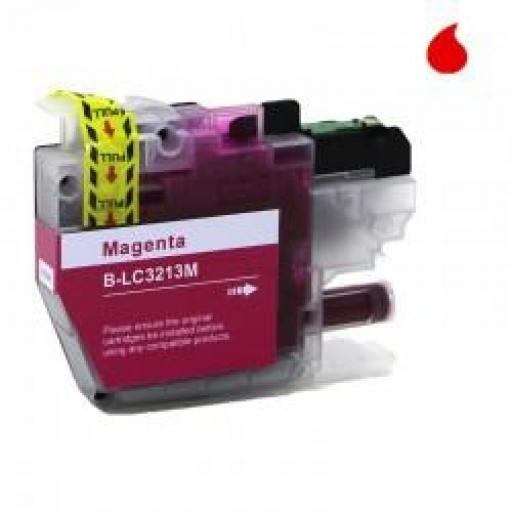 LC-3213/3211M CARTUCHO GENERICO COMPATIBLE CON BROTHER MAGENTA (10ML